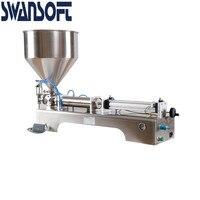 Máquina de enchimento pneumática de swansoft g1wg 0-500ml única cabeça creme máquina de enchimento pneumática moer
