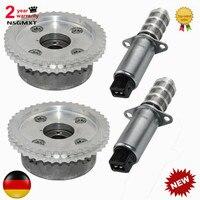 AP01 2pcs VVT Timing Camshaft Adjusters & Solenoid For Porsche Cayenne Panamera V8 4.8L 94810530407 94810505121