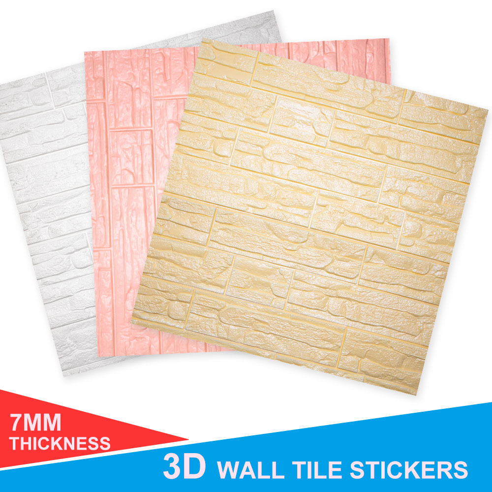3D Brick PE Foam paper Panels Room Stone Decal Embossed Home Wall Stick US