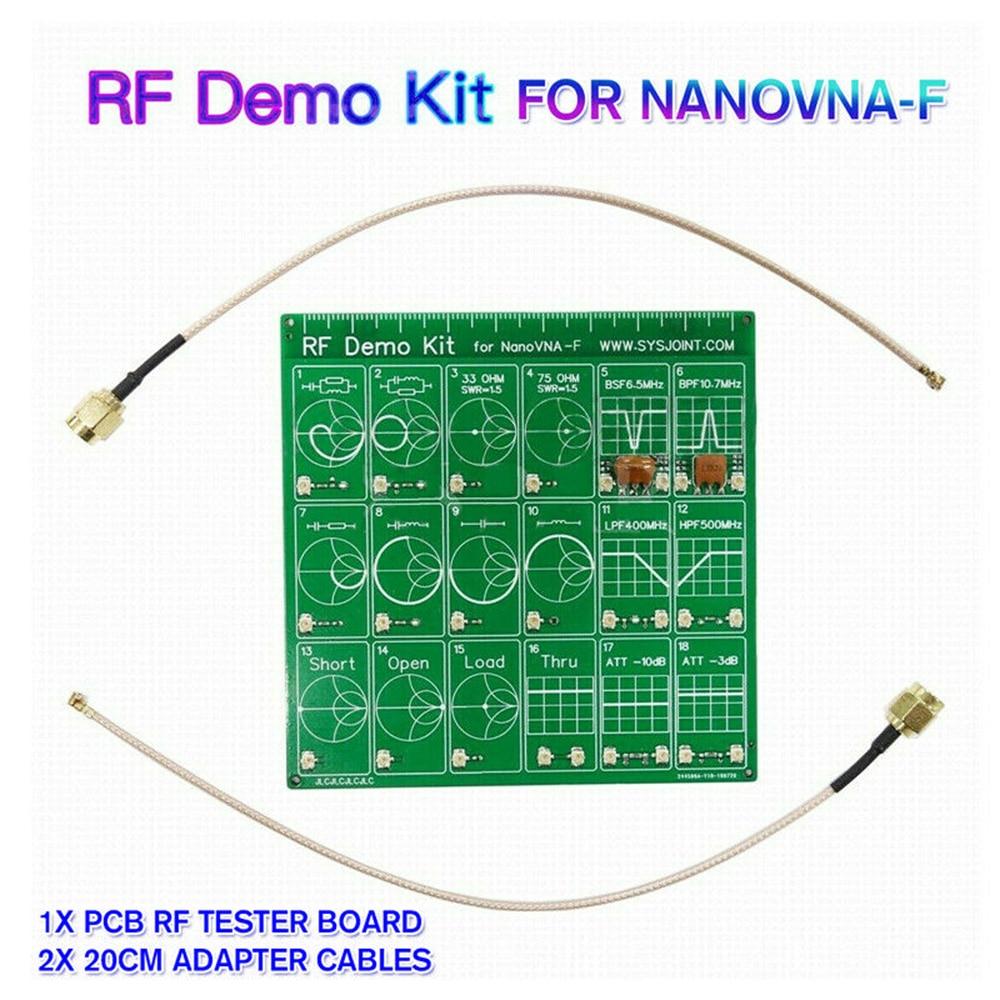 RF Demo Kit Radio Frequency Test PCB Board Filter Attenuator For VNA-F NanoVNA