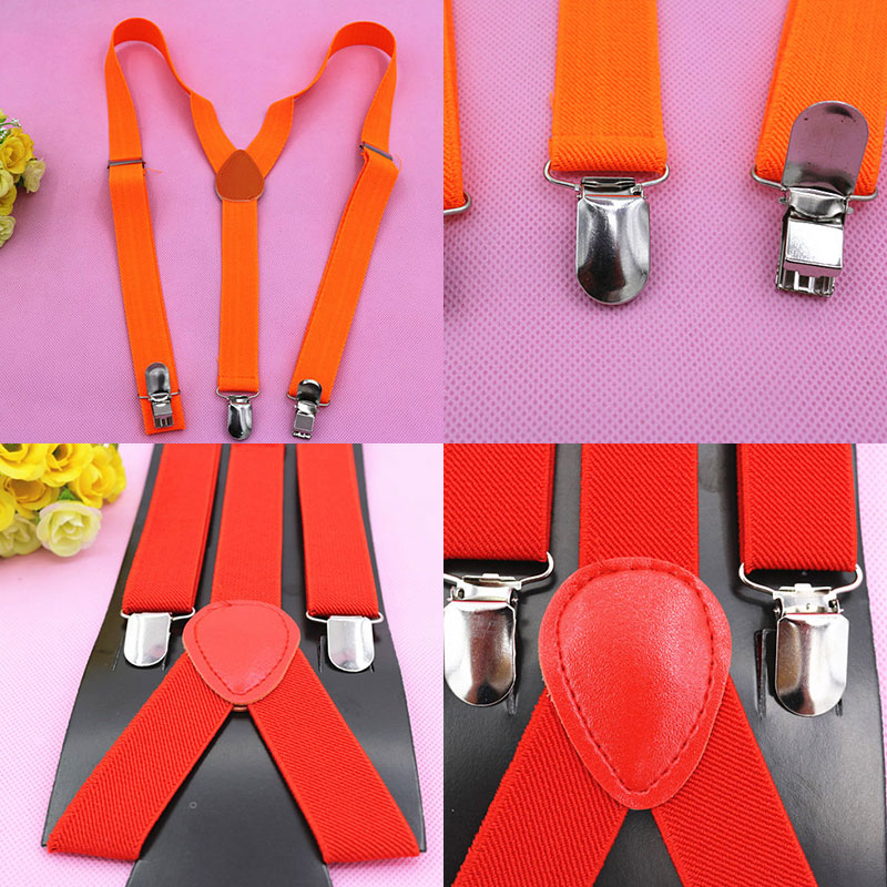Adult Suspender Straps Adjustable Elasticated  Y Shape Clip-on Men's Suspenders 3 Clip Pants Braces For Women Belt Straps