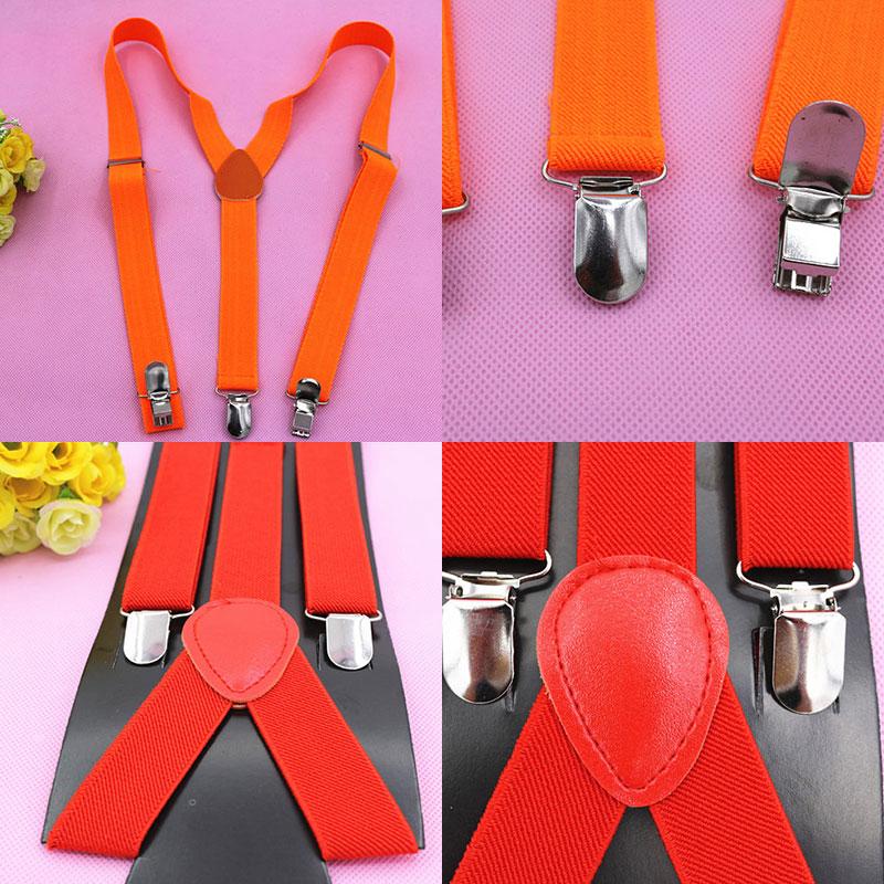 Unisex Braces Suspender Elastic Trouser Men Women/'s Belt Adjustable Strap Clip D