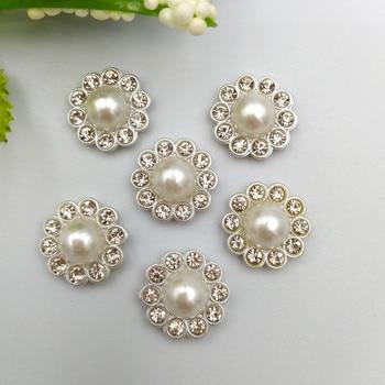 30Pcs Diy Silver resin flower Decoration Crafts Flatback Cabochon Scrapbooking Fit Hair Clips Embellishments Beads недорого