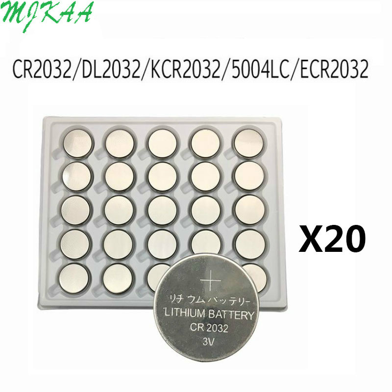 500PCS CR2032 Button Batteries BR2032 DL2032 ECR2032 Cell Coin Lithium Battery 3V CR 2032 For Watch Electronic Toy Remote