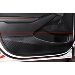 Image 5 - 4 teile/satz Auto Carbon Faser Textur Auto Film Innen Auto Tür Anti Kick Pad Abdeckung Trim Fit für Kia seltos 2020 2021