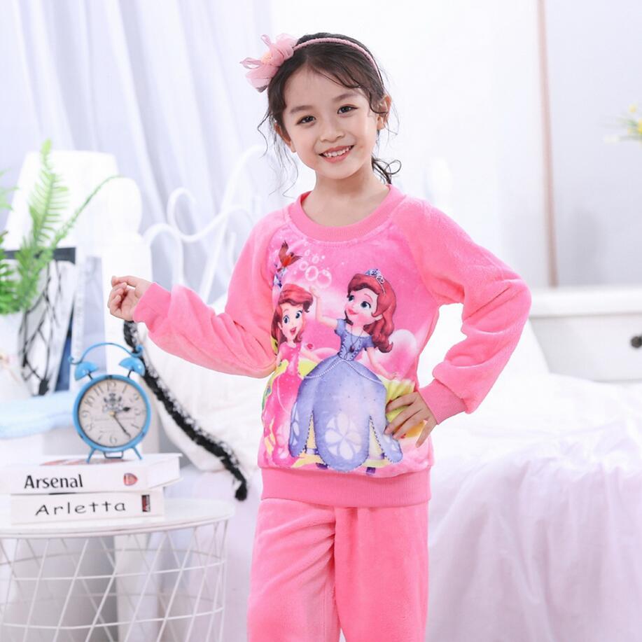 Новинка года; зимняя детская флисовая Пижама; теплая фланелевая одежда для сна; домашняя одежда для девочек из кораллового флиса; детская пижама; домашняя одежда; Пижама для мальчиков - Цвет: model 19