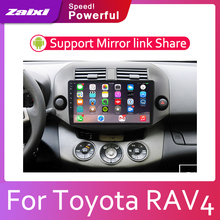 купить ZaiXi Android 2 Din Car radio Multimedia Video Player auto Stereo GPS MAP For Toyota RAV4 RAV 4 2006~2012 Media Navi Navigation дешево