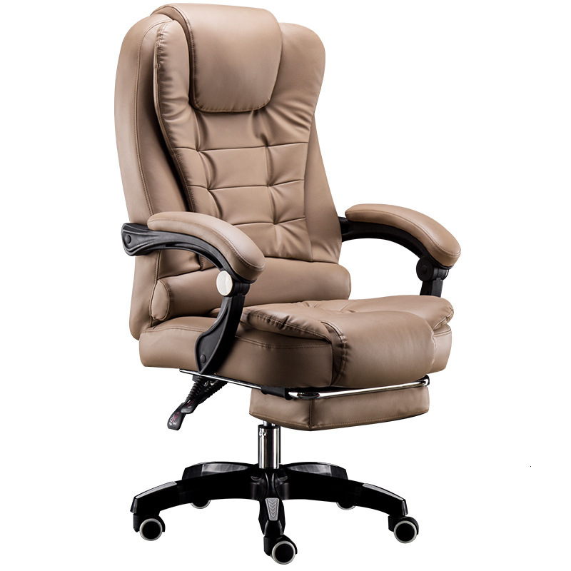 Lie Leather Leisure Time To Work In An Office Chair Massage Footrest Lift Swivel Chair Class Chair Computer Chair Household