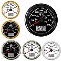 Marine Auto 85MM Digital LCD Speedometer Gauge for Boat Car 0 80MPH GPS Speedometer Gauge 0 130KM/H GPS Odometer Gauge fit 9~32V