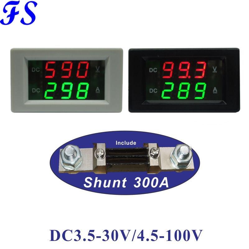 Вольтметр Амперметр постоянного тока 3,5-30 в 4,5 а с шунтом 75 мВ постоянного тока 100-в светодиодный цифровой измеритель напряжения тока постоян...