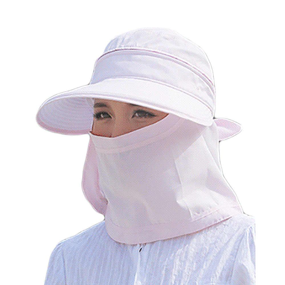 الشمس قبعات رفرف القبعات 360 درجة الشمسية الأشعة فوق البنفسجية حماية قبعة الشمس الصيف الرجال النساء قبّعة للوقاية من الشّمس للطي للإزالة الرقبة الوجه قناع رئيس