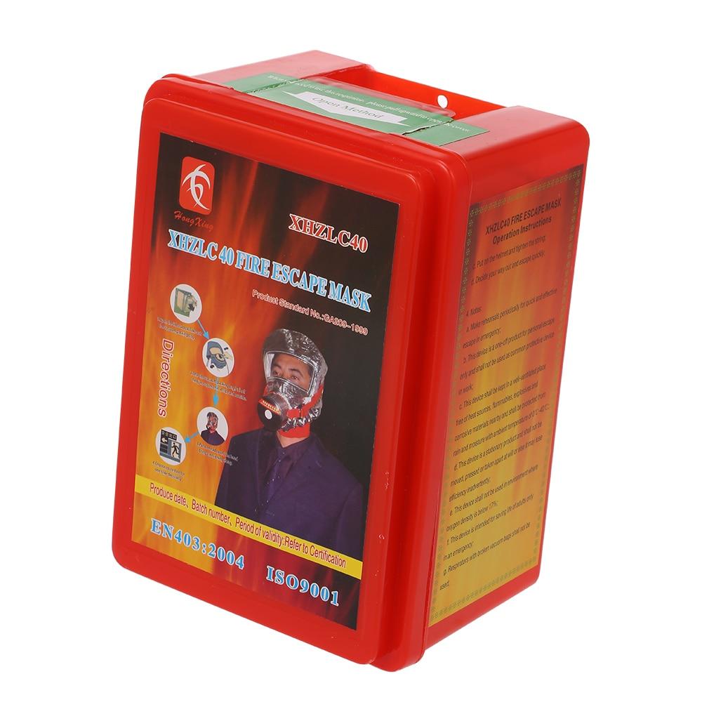 Image 5 - Пожарная маска Eacape для лица, самоспасательный респиратор,  противогаз, дымовая защитная маска для лица, личный аварийный  самоспасательПожарные респираторы