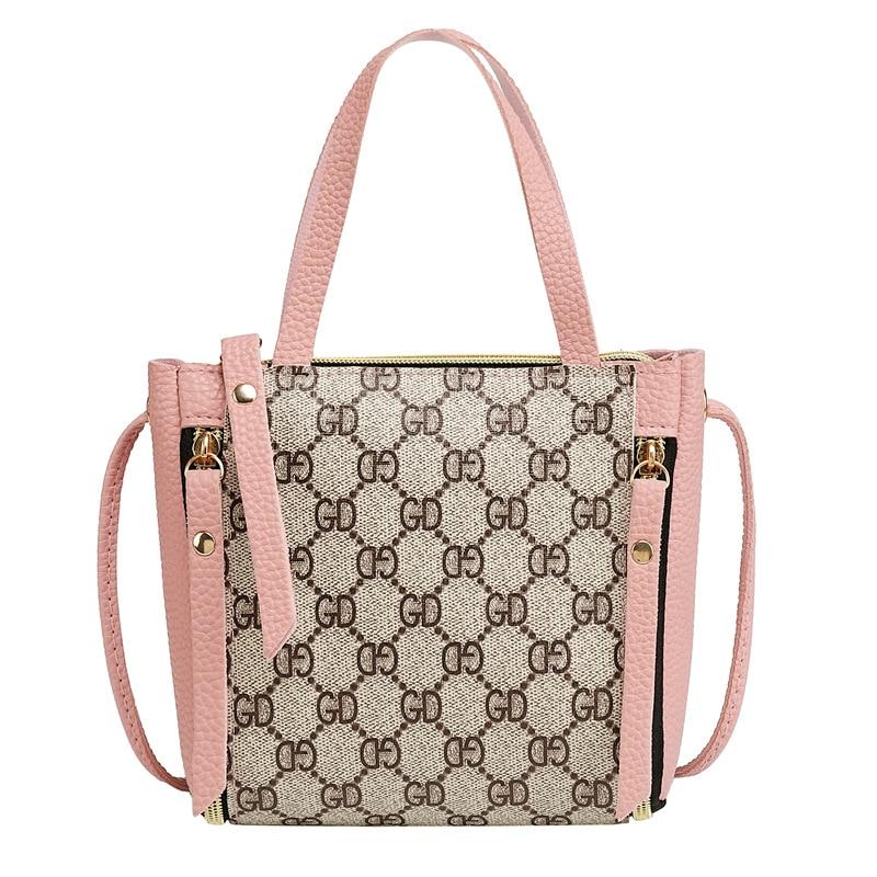 For Women 2019 Fashion  New Crossbody Bags Classic Pattern Messenger Bag Women Bag  PU Leather Handbags Shoulder Bag