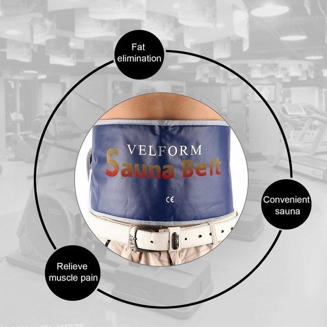 Heating Beauty Slimming Belt Health Care Body Tummy Waist Sweat Massager Massage Sauna Exercise Wrap Belts Fat Cellulite Burner 5