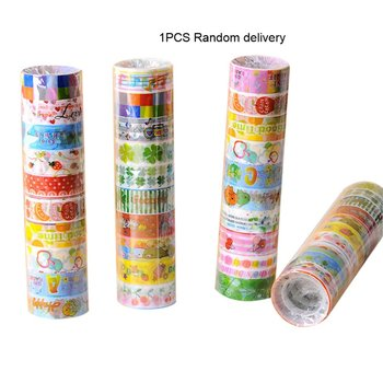 Adhesive Tape Lovely Cartoon Tape Set Japanese DIY Craft Paper Tape for Decorative Scrapbooking Bullet Journal Planner image