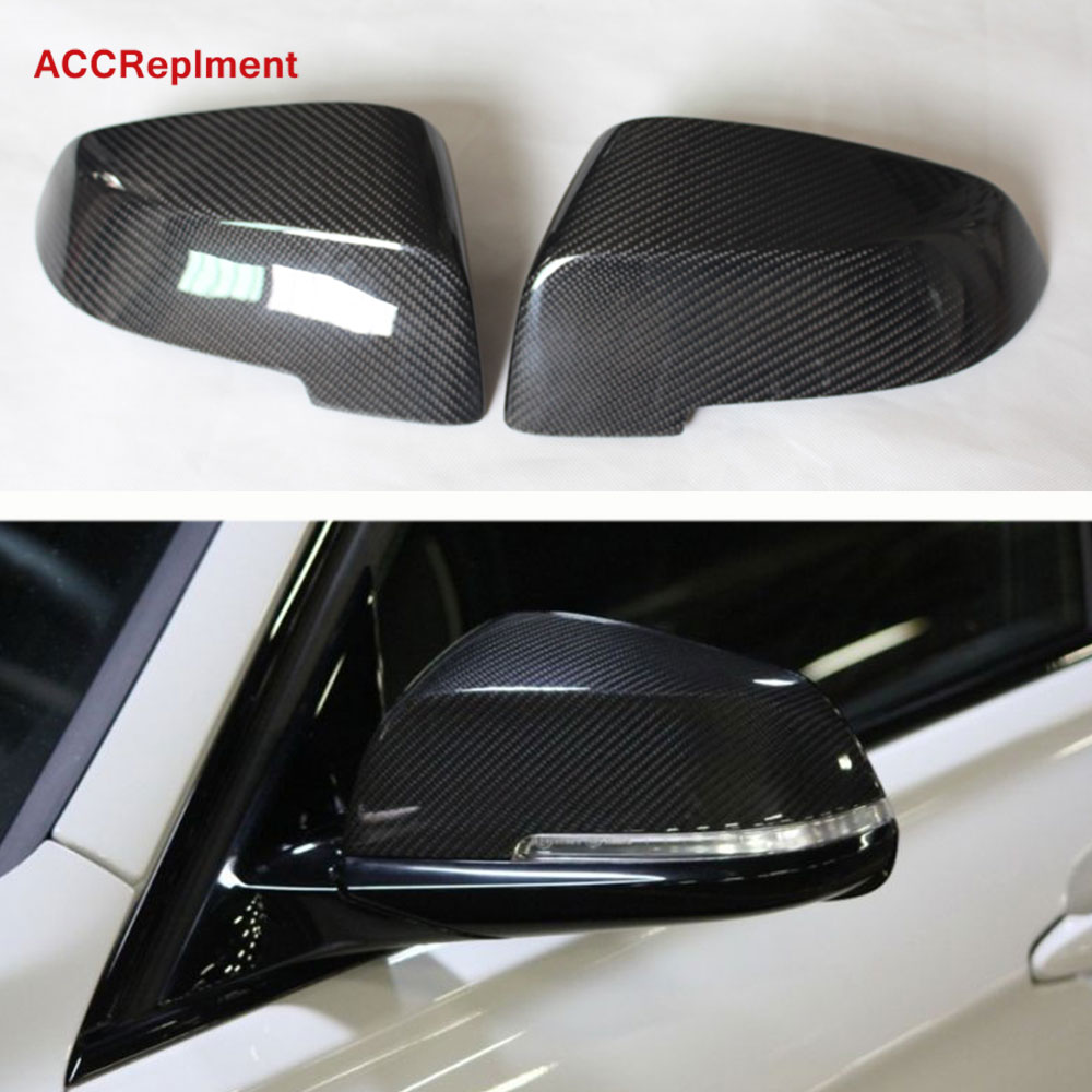Carbon Fiber Rearview Mirrors Cover Cap Fit for <font><b>BMW</b></font> F20 F22 F30 F31 F32 F33 F34 F35 <font><b>X1</b></font> E84 2012-<font><b>2019</b></font> image