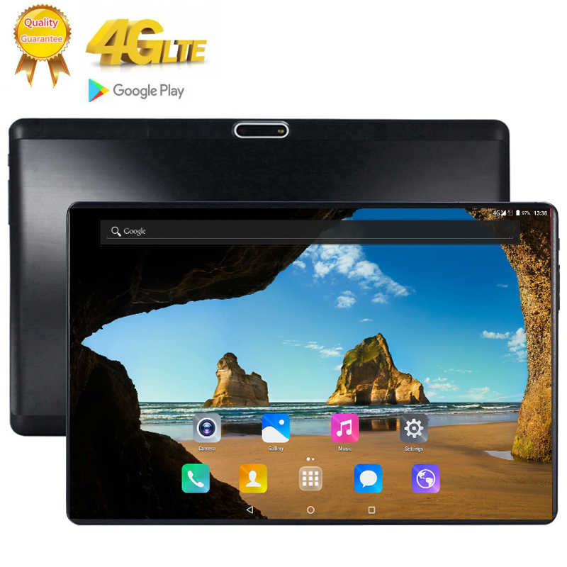 10.1Inch Tablet Google Store 10 Core 8GB RAM 128GB ROM 4G LTE Android 9.0 Tablet GPS WIFI 1920*1200 IPS Tablet Pad Glass Screen