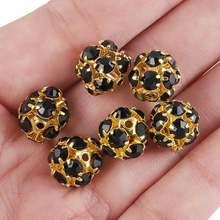 Tumbeelluwa 1lot/20pcs 10mm crystal rhinestone loose round ball
