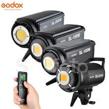 Godox SL60W SL100W SL150W SL200W LED Video Kontinuierliche Licht + Barn Tür Grid Filter 5600K SL-60W SL-100W SL-150W SL-200W beleuchtung