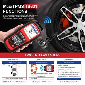 Image 3 - Autel MaxiTPMS TS601 أدوات إصلاح الإطارات سيارة ماسح ضوئي تشخيصي OBDII رمز قارئ تفعيل برمجة Mx الاستشعار تحديث مجاني