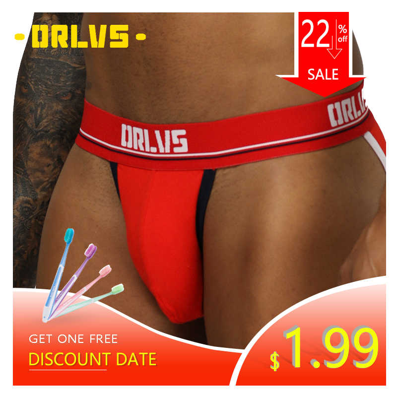 ORLVS Brand Men Underwear Sexy Briefs Cotton Breathable Cueca Tanga Hombre Panties Quick Dry Slip Homme Gay Jockstrap Briefs Men