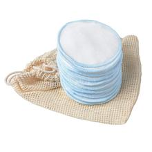 Reusable Cotton Makeup Remover Pads Soft Bamboo Rounds with Laundry Bag for Cleansing Face