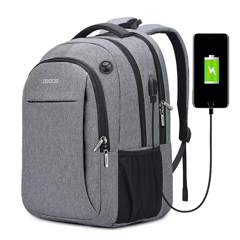 OSOCE  Laptop Bag Backpack 15.6 Inch With USB Charging Port Headphone Jack Waterproof  Business Back Packs Bags