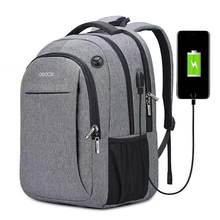 OSOCE Laptop Bag Backpack 15.6 Inch with USB Charging Port Headphone Jack Waterproof Business Back Packs Bags(China)