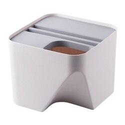 Kuchenny kubeł na śmieci ułożone sortowanie kosz na śmieci pojemnik na surowce wtórne gospodarstwa domowego oddzielne kieszenie na suche i mokre rzeczy kosz na śmieci kosz na śmieci do łazienki Gr