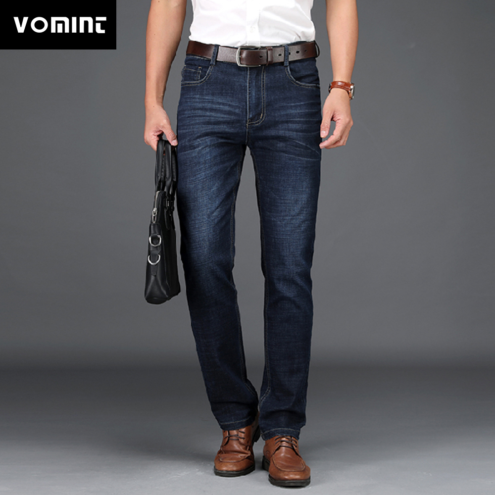 VOMINT Men Business Jeans Classic Spring  Male Regular Straight Stretch Brand Denim Pants Summer Overalls Slim Fit Trousers 2020