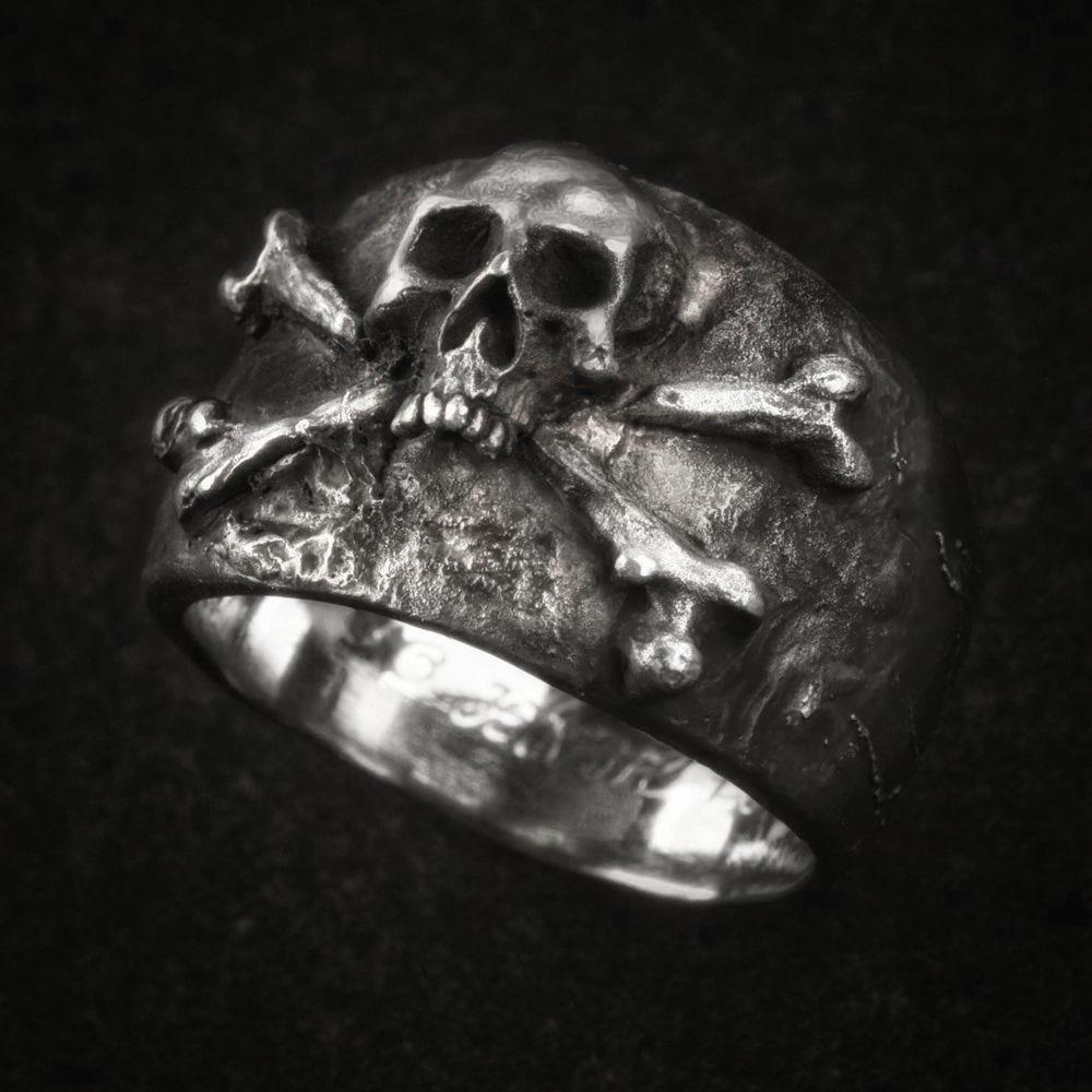 Gift for men Gift For Him,... Pirate Skull Ring Men Vintage Crossbones Pirate Skull Ring Mens Silver Color Biker Stainless Steel Rings