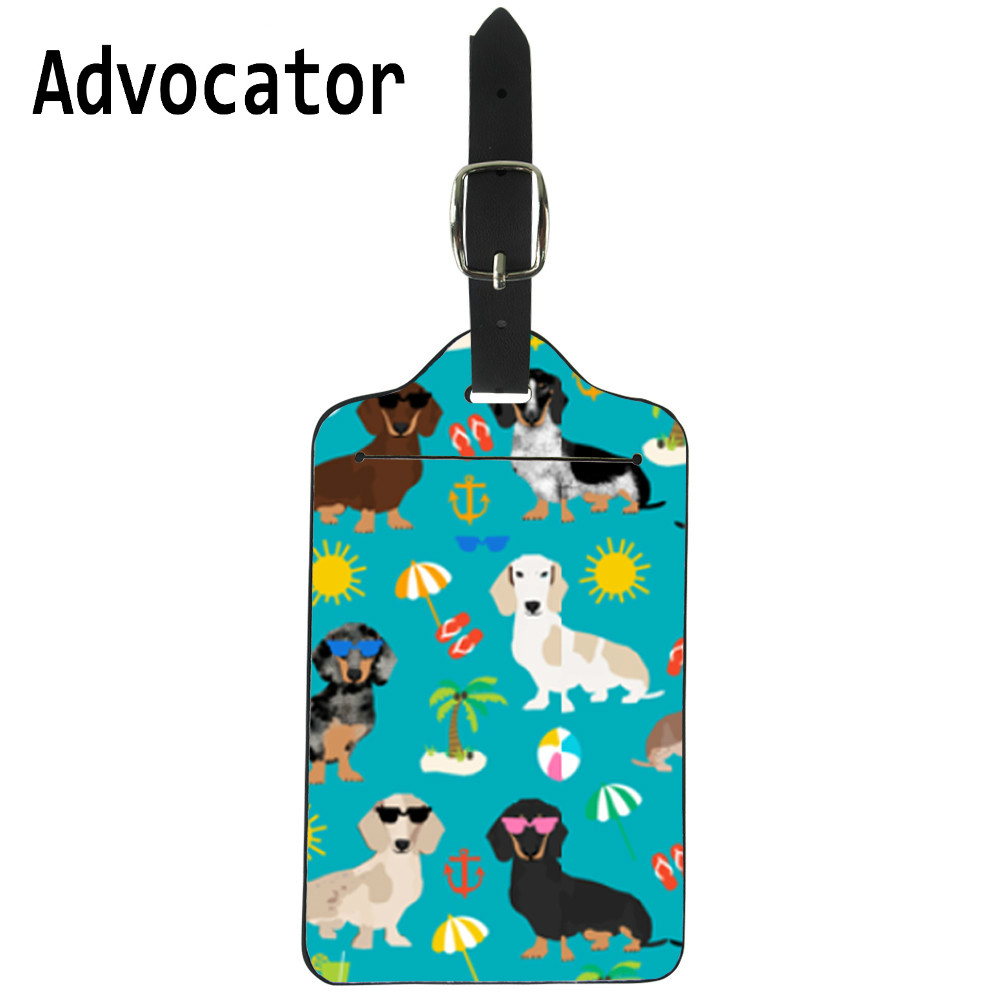 2 Pack Luggage Tags Dogs Dachshund Travel Tags For Travel Bag Suitcase Accessories