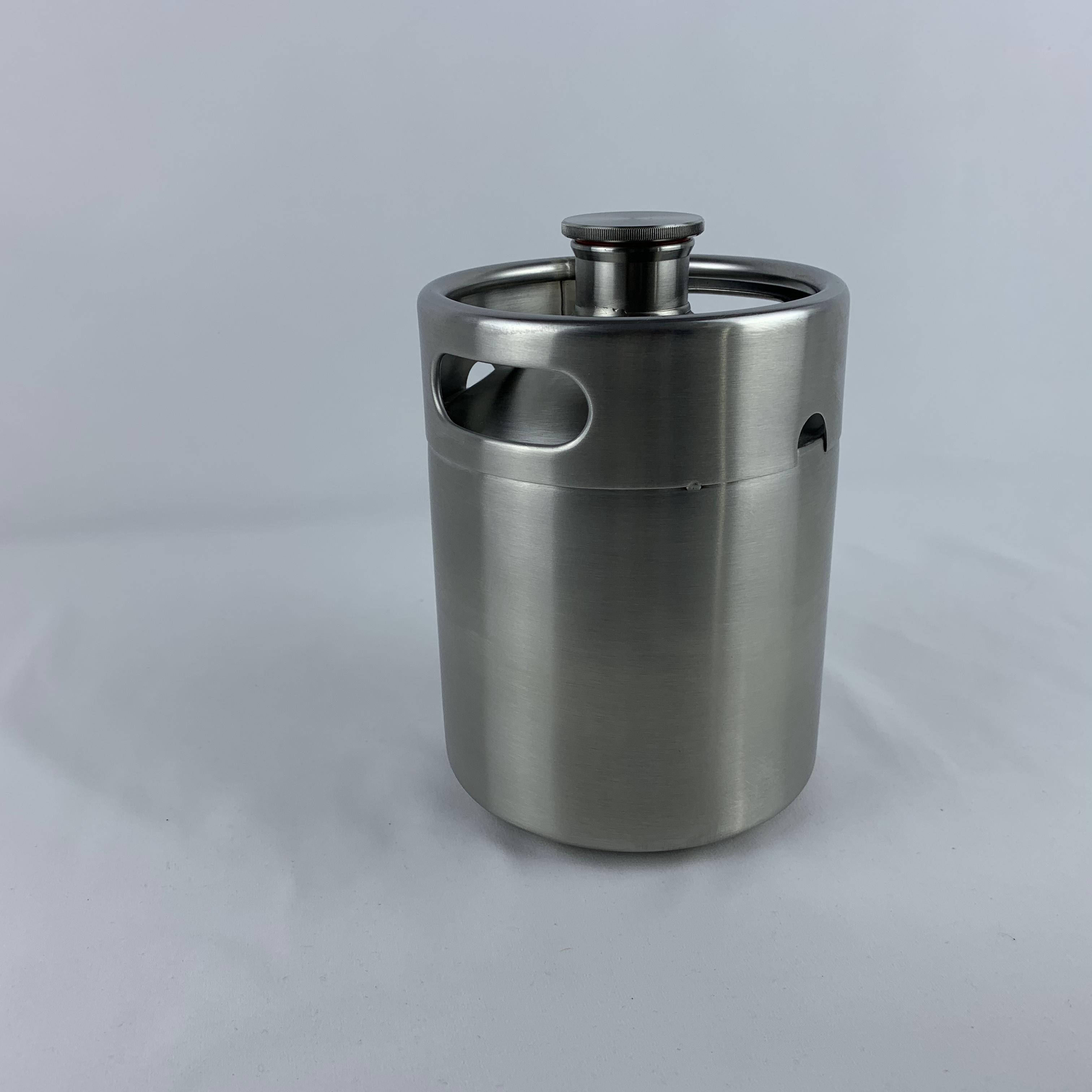 64oz mini keg housebrew for party dispenser made of high quality stainless steel handle polished growler tap system 2l growler image