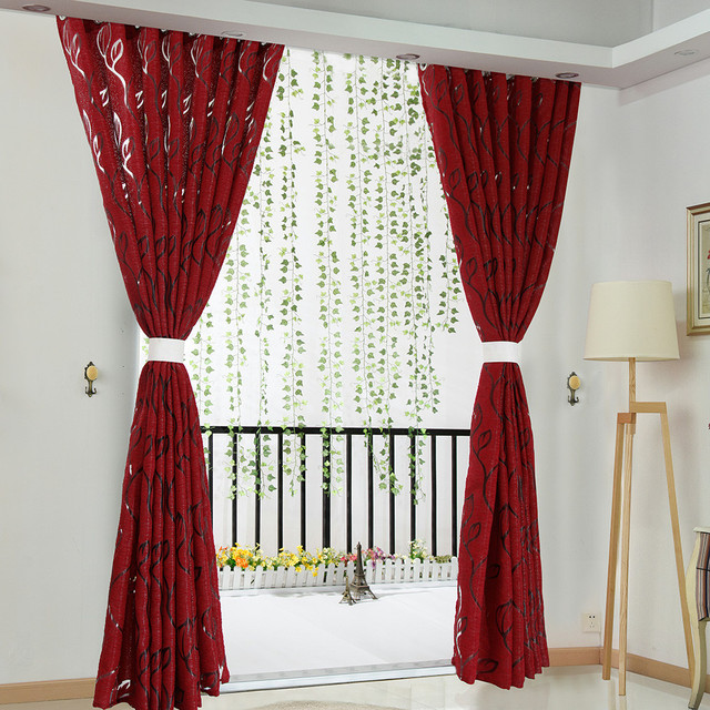 Luxury fashion style semi-blackout curtains Home curtains window living room living room curtain panel jacquard fabrics door CD 1
