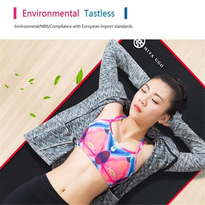 Exercise Sports Gym NBR Non-Slip Mats Fitness Sit-ups Body Shape Yoga Mat 10mm Thick Pilates Anti-Tearing Beginner Pads 26