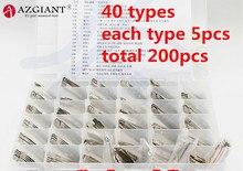 (40 Type 200 Stuks) gegraveerd Contrast Lijn Schaal Scheren Tanden Blank Autosleutel Snijtanden Blade Key Alle Merken Slotenmaker Tool