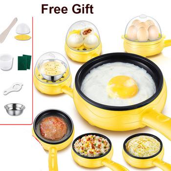 110V 220V wielofunkcyjny Mini elektryczne jajko omlet kuchenka naczynie do gotowania jajek parowar Pancake smażony stek non-stick patelnia tanie i dobre opinie HAIMAITONG CN (pochodzenie) Pojedyncze dno 350 w 220 v Z tworzywa sztucznego