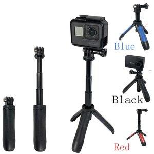 Image 3 - Mini palo de Selfie + mango extensible trípode para GoPro Hero 7 6 5 4 para EKEN H9 H9R
