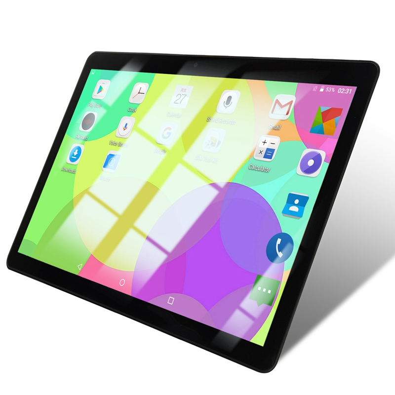 10.1 Inch Tablet Pc Quad Core Powerful Android 1GB RAM 16GB ROM IPS Dual SIM Phone Call Tab Phone Pc Tablets Black EU Plug