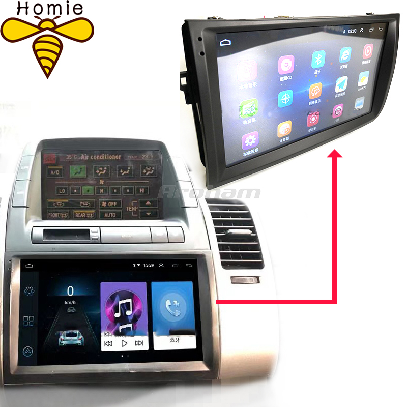 Modified Central Control Large Screen Android Navigation For Toyota Old Prius 2003 2004 2005 2006 2007 2008 2009 High Quality