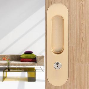 Image 2 - スライドドアロックハンドル盗難防止のためのキー納屋木製家具ハードウェアドアラッチロックダブルドア cerradura