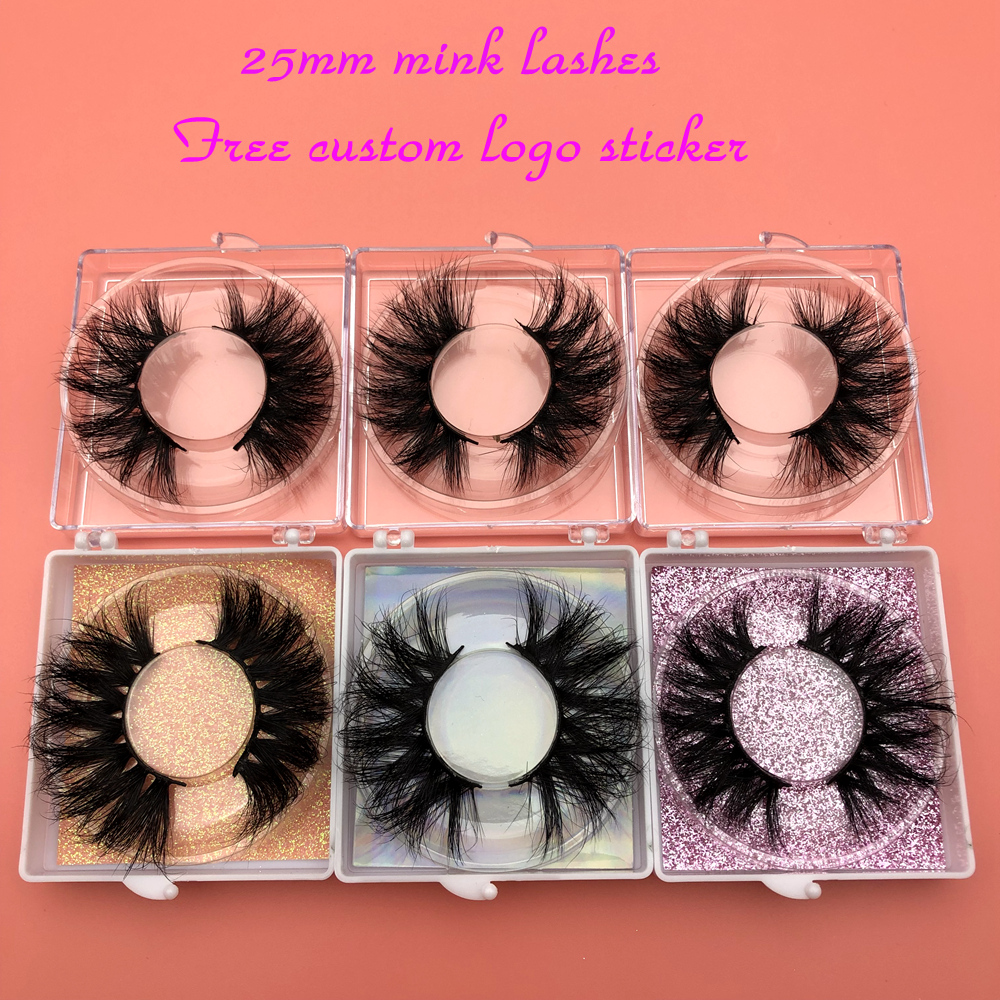 Mikiwi 25mm Mink Eyelashes 30/50 Wholesale 3D Mink Lashes Square case Free custom Logo packaging Label Makeup Box Mink Lashes-in False Eyelashes from Beauty & Health