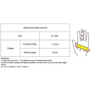 Image 5 - 2020 nuovo Touchscreen Guanti Lunghi 70 centimetri Grande Largo Del Polsino Del Manicotto Della Lanterna Del Manicotto di Soffio di Emulazione di Cuoio Donne Degli Uomini Guanti WPU138