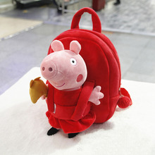 Peppa Pig Bag Plush Backpack  Cartoon Cute George Doll Children School Bag Baby Snack Toy Bag Kids Birthday Party Gifts cute rabbit plush backpack cartoon stuffed plush doll children school bag gifts for kids