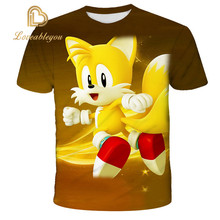 Kids 3D Cartoon Sonic Game Print T-shirts Costume Boys