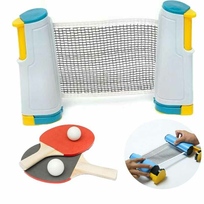 Table Tennis Net Ping Pong Set Retractable Net Rack Portable Sports Tools