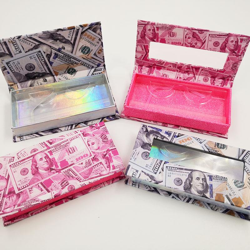 novo 40 pcs vison cilios casos colorido embalagem retangulo caixas cilios pacote 25mm vison cilios magnetica