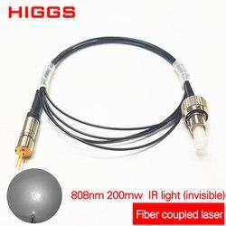 Wysokiej jakości 808nm 200mw moduł sprzęgający z włókna laserowego na podczerwień akcesoria sprzęgające niewidzialne światło Multi lub single mode