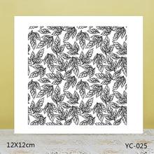 ZhuoAng Green leaf background Transparent seal / sealed DIY scrapbook album decoration card seamless