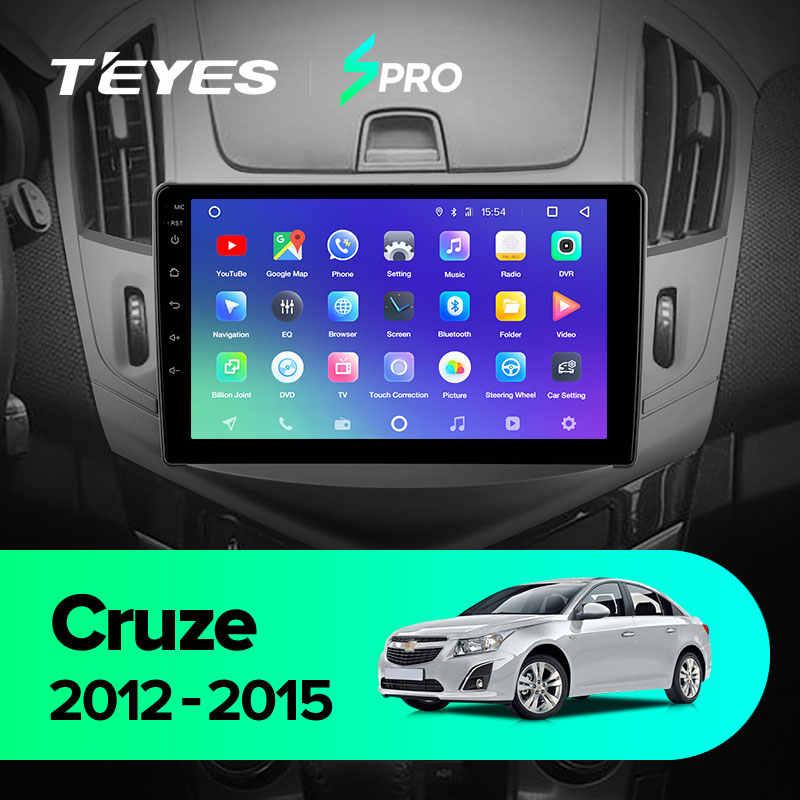 TEYES SPROสำหรับChevrolet Cruze J300 J308 2012 2015 รถวิทยุเครื่องเล่นวิดีโอมัลติมีเดียระบบนำทางGPS Android 8.1 ไม่มี 2DIN DVD